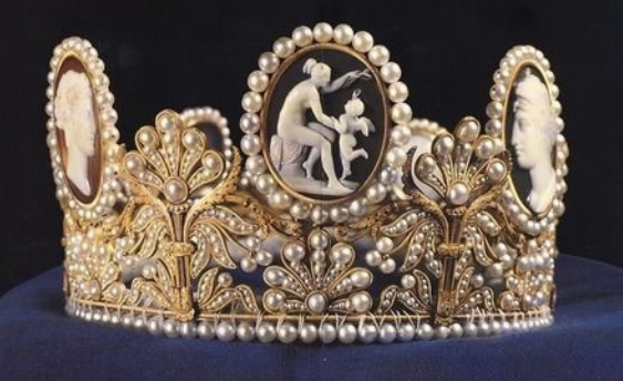 Crown Princess Maragaret wearing thethe bel Poltimore Tiara Princess